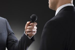 Public speaking training for interview situations