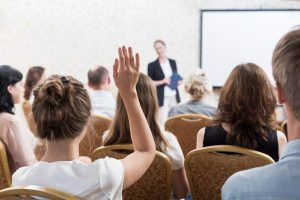 Presentation and public speaking skills workshop tailored to large corporate groups