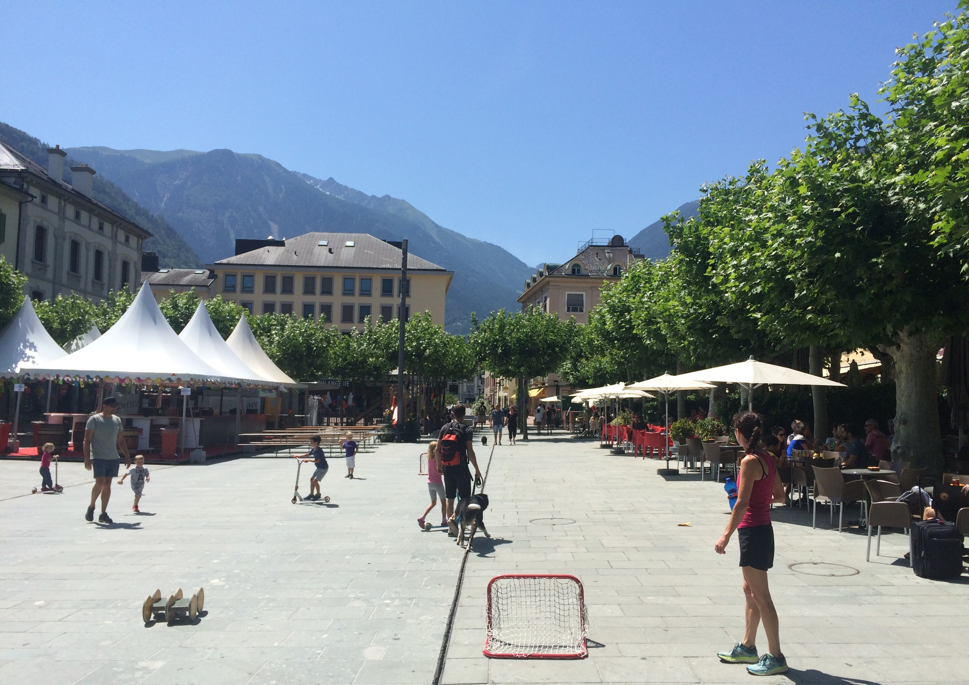 Martigny training center village square