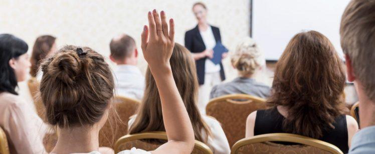 Public speaking large group seminar