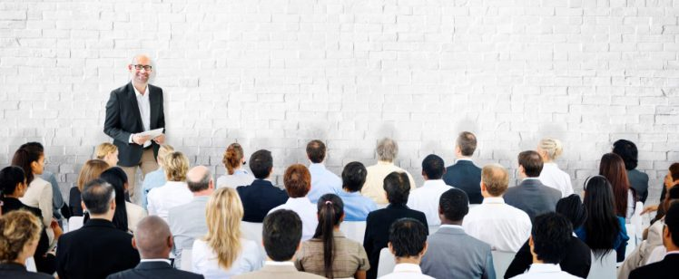 Public speaking to a large group